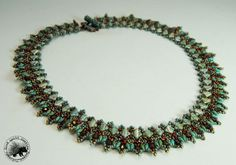 Turquoise Silky Beaded Necklace by GoodQuillHunting on Etsy