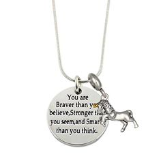 Amazon.com: Inspirational Necklace Jewelry Gifts for Girls with Unicorn Charm Pendant (Two Tones Unicorn): Home & Kitchen Unicorn Necklace, Dog Tag Necklace, Jewelry Gifts, Jewelry Necklaces, Two Tones, Gifts For Girls, Inspirational, Pendant Necklace, Amazon