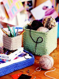 Ravelry: Creativity Baskets pattern by Noreen Crone-Findlay
