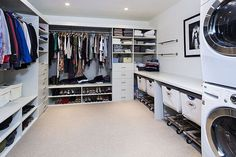 Modern Closet with Easy Track Closet 8 in. White Hutch Drawer - RD2608, California Closets Walk-In Closet Custom Cabinetry