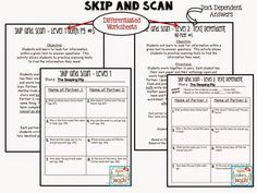 Houghton Mifflin first grade resources. More than 240 pages of thinking maps, depth and complexity, and Daily 5 activities.   Love Skip and Scan! It teaches kids to look in the text for answers. There are 2 different levels.
