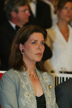 Princess Caroline of Monaco attends the Prince Rainier's Grand Prix at the 9th International Jumping show April 12, 2003 in Monte Carlo. The competition takes place in Monte Carlo from April 10 until April 12.