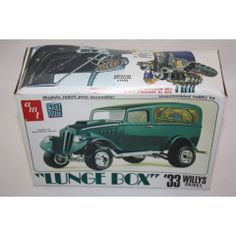 AMT LUNGE BOX 33 WILLYS PANEL STREET RODS 1/25 SCALE PLASTIC MODEL CAR KIT