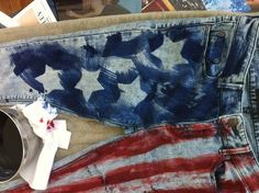how to make american flag jeans