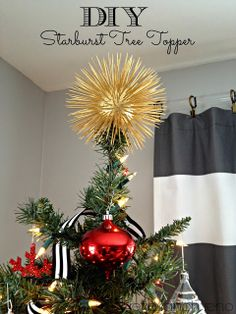 Retro Ranch Reno: DIY Starburst Tree Topper | I could totally dig this.