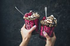Vegan love shake. Beetroot and raspberry.