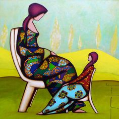 Laine et Pauly Water Me, Mother And Child, Illustrations, Gallery, Inspiration, Paintings, Female Form, Artists, Women