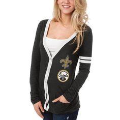 New Orleans Saints Klew Black Big Logo Ugly Sweater