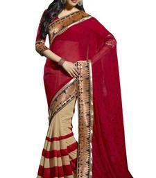 Buy Triveni Fine-looking Lotus Motif Broad Border Sari TS700014a party-wear-saree online