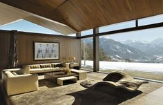 stunning forms and cut-outs to their stunning surroundings! Voorsanger Architects - Wildcat Ridge Residence in Aspen. (Foto: divulgação)