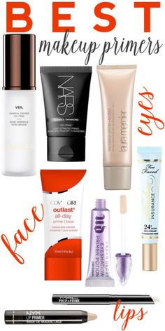 Best makeup primers for your eyes, face and lips.