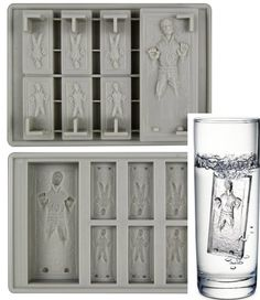 Freeze your own Han Solo! Here comes an innovative Star Wars kitchen product from a galaxy far, far away. This time around, the fun gets frosty with the Han Solo in Carbonite Silicone Tray. Geeks, Han Solo Frozen, Star Wars Kitchen, Silicone Ice Trays, Star Wars Han Solo, Staring At You, Winning The Lottery, Star Wars Party, Gadget Gifts