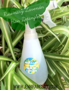 All Natural Rosemary Lavender Detangler 8 oz. distilled water 1 teaspoon aloe vera gel (find it HERE) 1-2 drops glycerin (find it HERE) 5-10 drops essential oil
