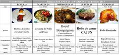 Menú Principal Comedor Escolar del 23 al 27 de Febrero de 2015