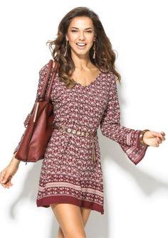 Šaty v boho štýle Mode Boho, Coachella, Boho Dress, Boho Fashion, Cold Shoulder Dress, Dresses With Sleeves, Long Sleeve, Casual, Sweaters