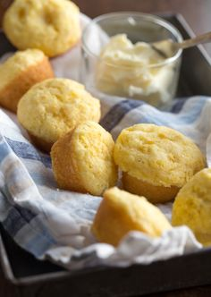 Quick and easy mini cornbread muffins. Make these cute little bites from Jiffy cornbread mix, monterey jack cheese (or use pepper jack to spice things up a bit) and corn (fresh or frozen).