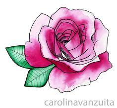 Flor em aquarela