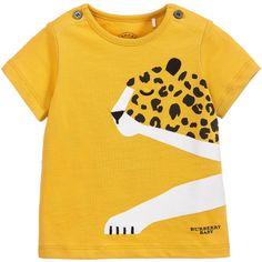 Burberry Baby Boys Yellow Cheetah T-Shirt at Childrensalon.com