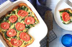 Zoete aardappelquiche met spinazie en tomaat – SKINNY SIX