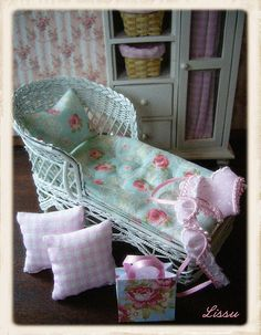 Shabby Chic Green Cottage by Lissus dollhouse, via Flickr