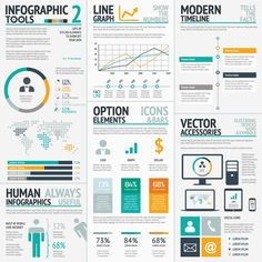 Infographic element sets to help work faster. by Mats F, via Behance