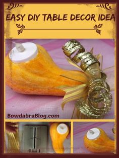 Easy DIY Table Decor Idea for your Thanksgiving or Christmas table.