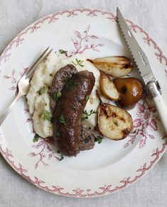 Sausage, Mash and CaramelizedPears