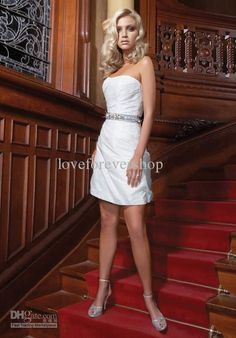 Cheap dress shaper, Buy Quality dresses formal directly from China dress jumpsuit Suppliers: Elegant White Satin Short Wedding Dress 2017 Shinning Beading A Line Wedding Gowns Bridal Dresses Mini Wedding Dresses, Wholesale Wedding Dresses, Tea Length Wedding Dress, Cheap Wedding Dress, Wedding Dress Styles, Bridal Dresses, Wedding Gowns, Reception Dresses, Wedding Reception