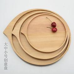 木盘大圆木托盘茶盘酒店专用菜餐盘实木盘子个性木餐具披萨盘-淘宝网
