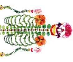 Ad for Japanese Funeral Service Features Lifesize Skeleton Made of Pressed Flowers
