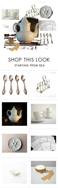 """Tea Time"" by babytweeds ❤ liked on Polyvore featuring interior, interiors, interior design, home, home decor, interior decorating and vintage"