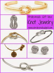 A Bride On A Budget: Bridesmaids Gift Idea: Knot Jewelry