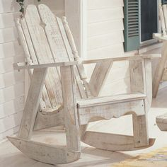 Handcrafted indoor/outdoor pine rocking chair with an ergonomic seat. Made in the USA.   Product: Rocking chairConstr...