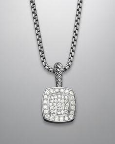 Petite Albion Pendant with Diamonds on Chain by David Yurman at Neiman Marcus.