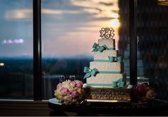 Wedding cake at reception