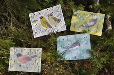 bird postcards by Rita Fürstenau