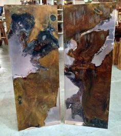 Teak and Resin Console Table Tops Impact Imports of Boise & Philadelphia: reclaimed teak & boat wood furniture, Buddha statues, stone vessel sinks, live edge wood slab tables, petrified wood tile & more!