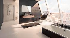 myDay prostorná koupelna / bathroom furniture Bad Inspiration, Bathroom Inspiration, Bathroom Spa, Modern Bathroom, Bidet, Wc Sitz, Bathroom Furniture, Corner Bathtub, Bathroom Accessories