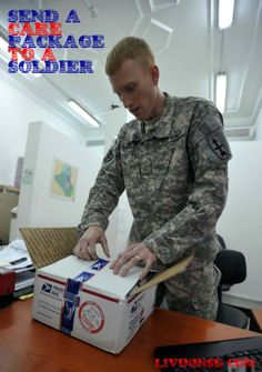 Send a care package to a soldier.  Christmas 365: Day 41 - Livin in San Diego Livininsd.com #randomactsofkindness #payitforward