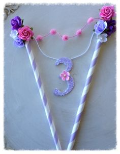 Shabby Chic Cake Bunting for Birthday Party With by JeanKnee, $14.00