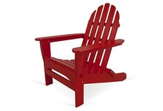 Classic Folding Adirondack, Red on OneKingsLane.com