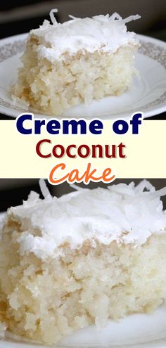 Creme of Coconut Cake I'm going to confess that at some point in my life I was addicted to coconut. There is a good reason why vegans love coconuts, they are so versatile and is a great healthy alternative to a lot of fats used in cooking and baking. Coconut Recipes, Baking Recipes, Cake Recipes, Dessert Recipes, Just Desserts, Delicious Desserts, Yummy Food, Healthy Food, Yummy Treats