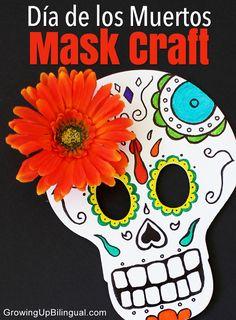 Skull mask craft DIY Dia de los Muertos Day of the Dead. #cbias