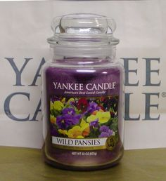 Yankee Candle Wild Pansies. So cute with the purple shade. #YankeeCandle #MyRelaxingRituals