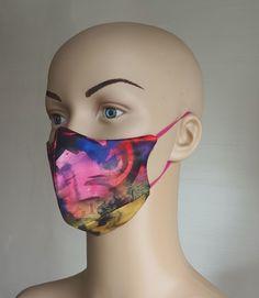 Masca din matase naturala cu imprimeu fantezist. Carnival, Halloween Face Makeup, Painting, Carnavals, Painting Art, Paintings, Painted Canvas, Drawings