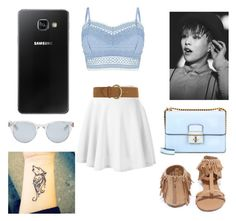 """""""Xiumin"""" by the2020 ❤ liked on Polyvore featuring Lipsy, Dorothy Perkins, Qupid, Sun Buddies, Samsung and marshmallow"""
