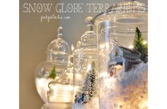 DIY Snow globes with fairy lights