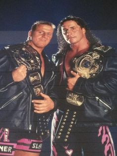 Bret Hart and his brother Owen Watch Wrestling, Wrestling Stars, Wrestling Wwe, Wwf Superstars, Wrestling Superstars, Wwe Raw And Smackdown, Hitman Hart, Wwe Pictures, Lucha Libre