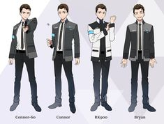 Detroit become human Connor  By: naeko777