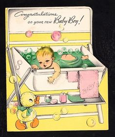 Unused New Baby Boy Greeting Card (JC 70)